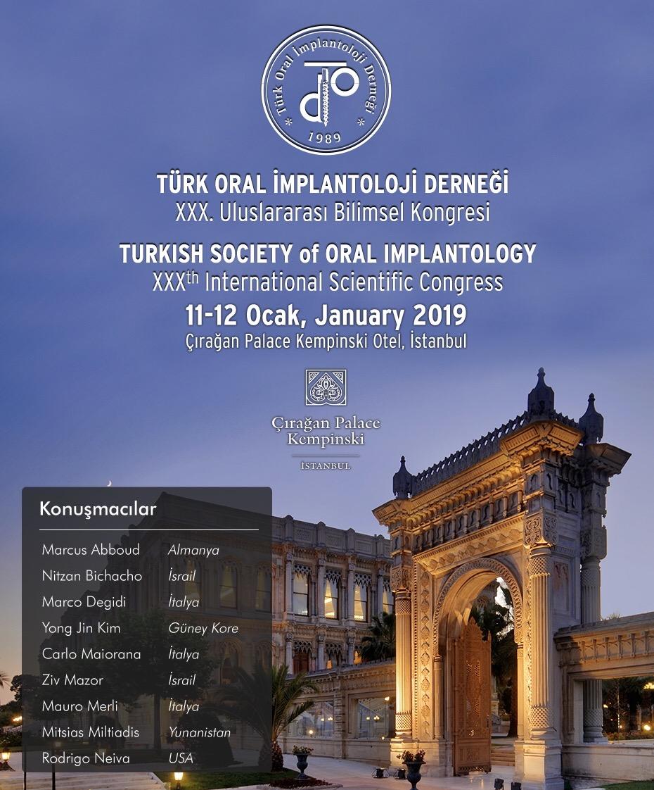 Türk Oral İmplantoloji Derneği 30. Uluslararası Bilimsel Kongresi