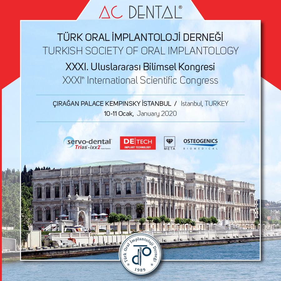 Türk Oral İmplantoloji Derneği 31. Uluslararası Bilimsel Kongresi