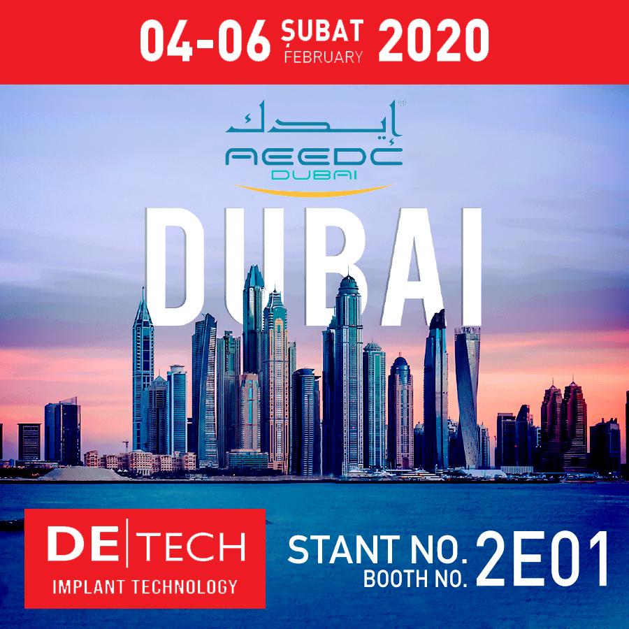 AEEDC 2020 DUBAI Uluslararası Diş Hekimliği ve Ekipmanları Fuarı